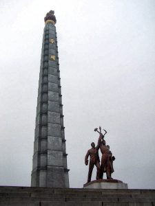 北朝鮮,平壌,ピョンヤン,花崗岩,かこうがん,主体思想塔,チュチェササンタプ,凱旋門,平壌の凱旋門,ケソンムン,